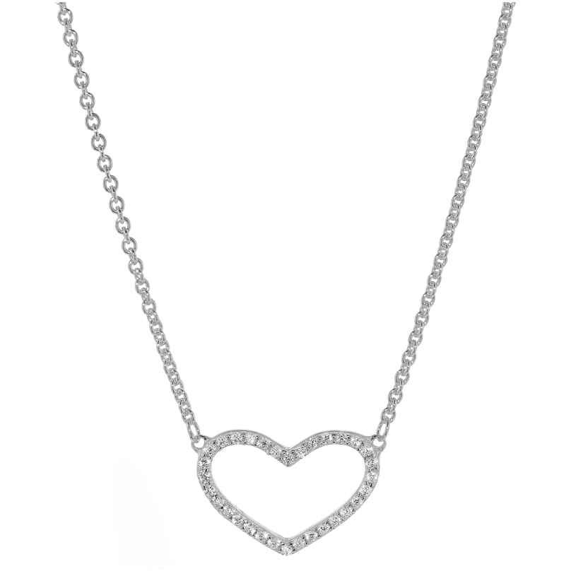 trendor 08028 Silber-Halskette mit Zirkonia-Herz 4260497080282