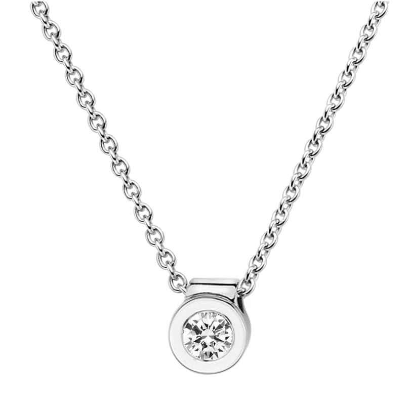 trendor 532519 Weißgold Damen-Collier mit Diamant-Anhänger 4006025325193