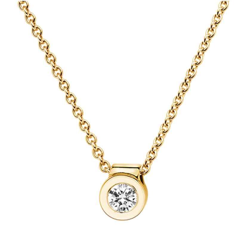 trendor 532523 Damen Gold-Halskette mit Diamant-Anhänger 4006025325230