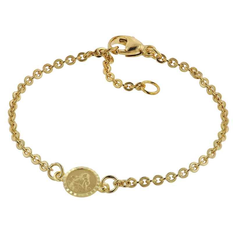 trendor 75090 Bracelet for Babies Gold 333/8 ct with Angel Plate 14 cm 4260641750900