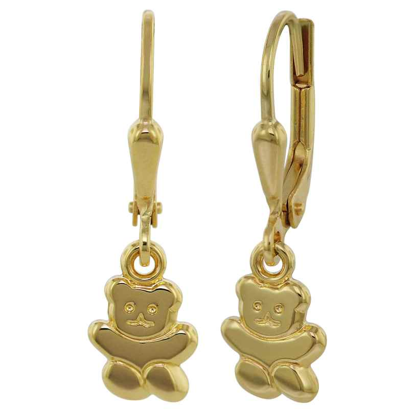 trendor 35740 Teddybär Gold-Ohrhänger 4260435357407