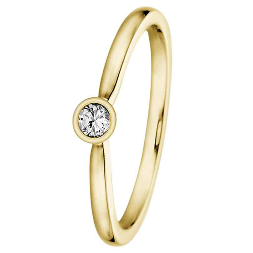 trendor 532487 Damenring Gold mit Diamant