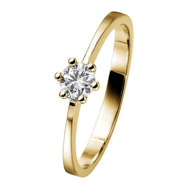 trendor 532476 Solitär-Ring Gold mit Diamant