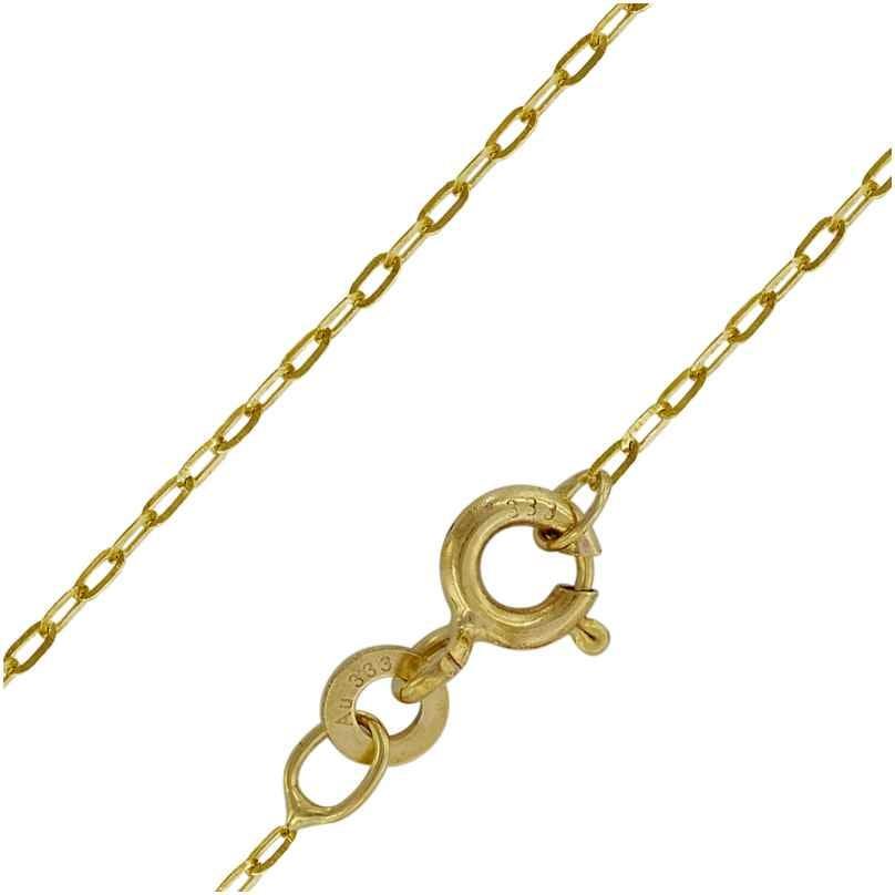 trendor 73815 Halskette für Frauen 333 Gold Weitanker 0,6 mm breit