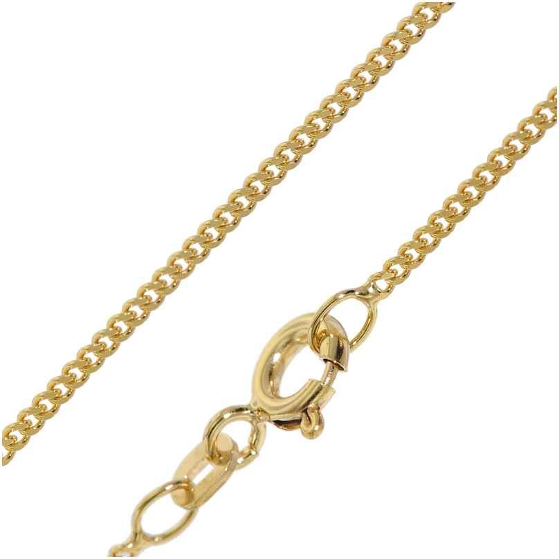 trendor 51986 Halskette für Anhänger 585 Gold Flach-Panzerkette Breite 1,4 mm