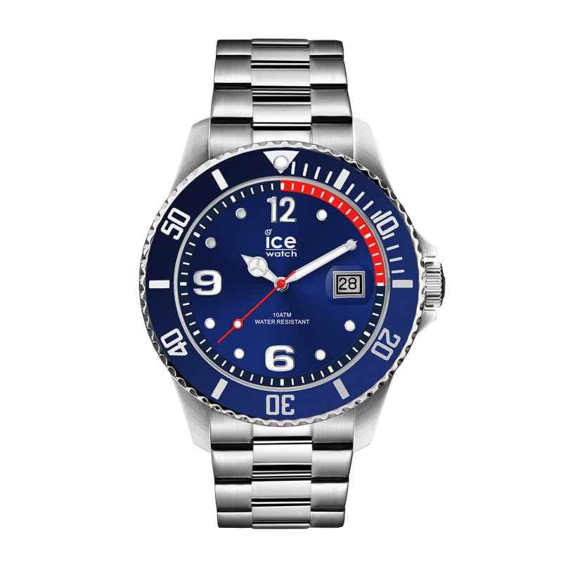 Ice-Watch 015771 Herrenuhr Ice Steel Blue Silver M 4895164084456