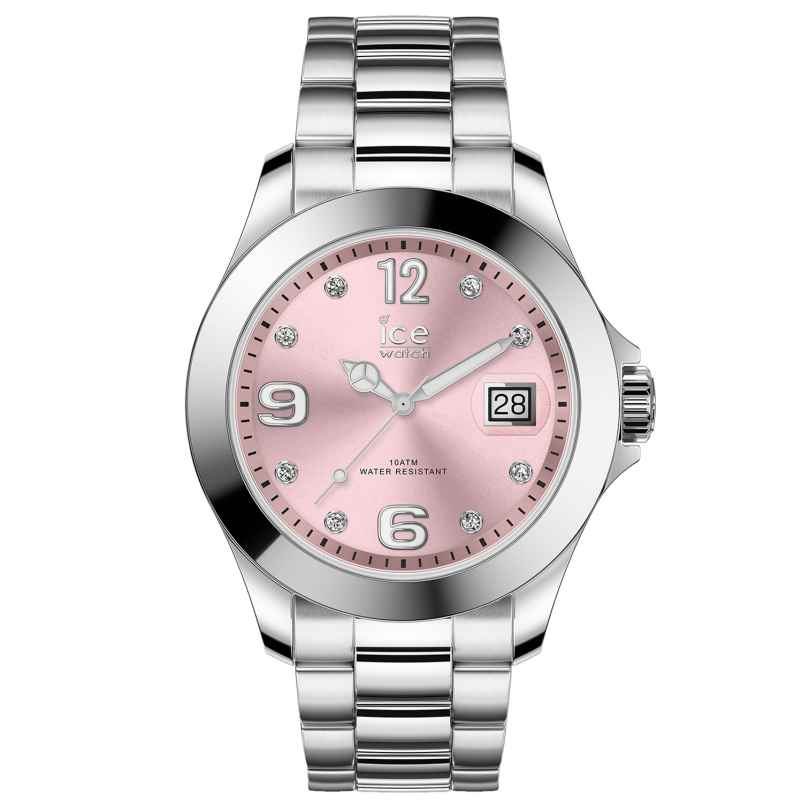 Ice-Watch 016776 Damenuhr Ice Steel Light Pink M 4895164090020