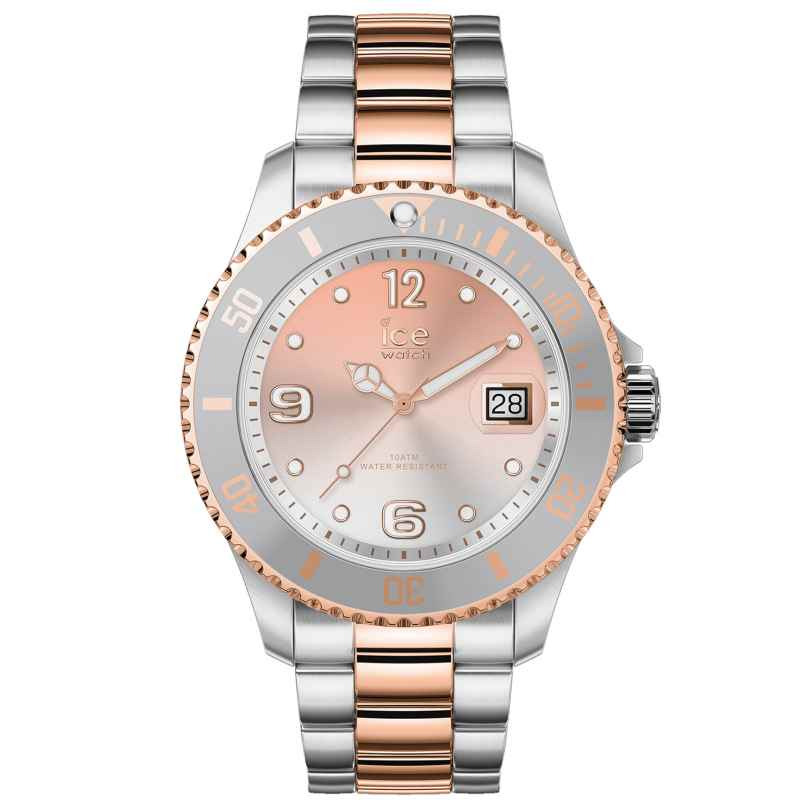 Ice-Watch 016769 Ladies Watch Ice Steel Silver Sunset Rose-Gold M 4895164089956