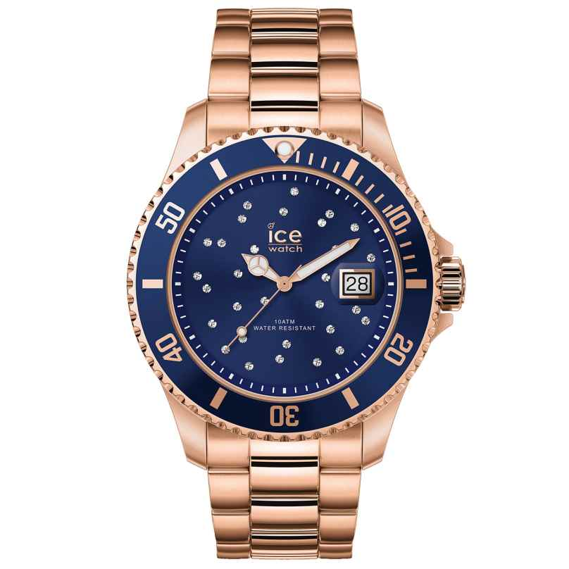 Ice-Watch 016774 Ladies Watch Ice Steel Blue Cosmos Rose-Gold M 4895164090006