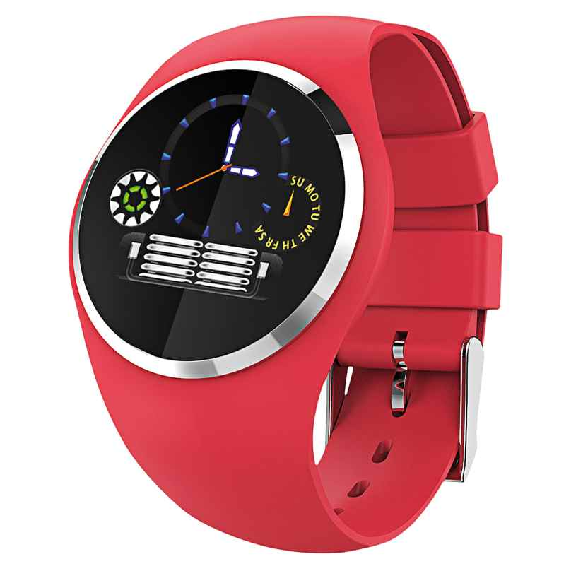 Atlanta 9703/1 Smartwatch mit Touchdisplay Rot 4026934970314