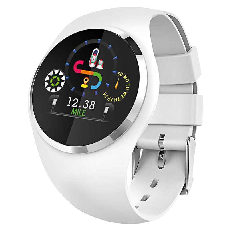 Atlanta 9703/0 Smartwatch mit Touchdisplay Weiß 4026934970307