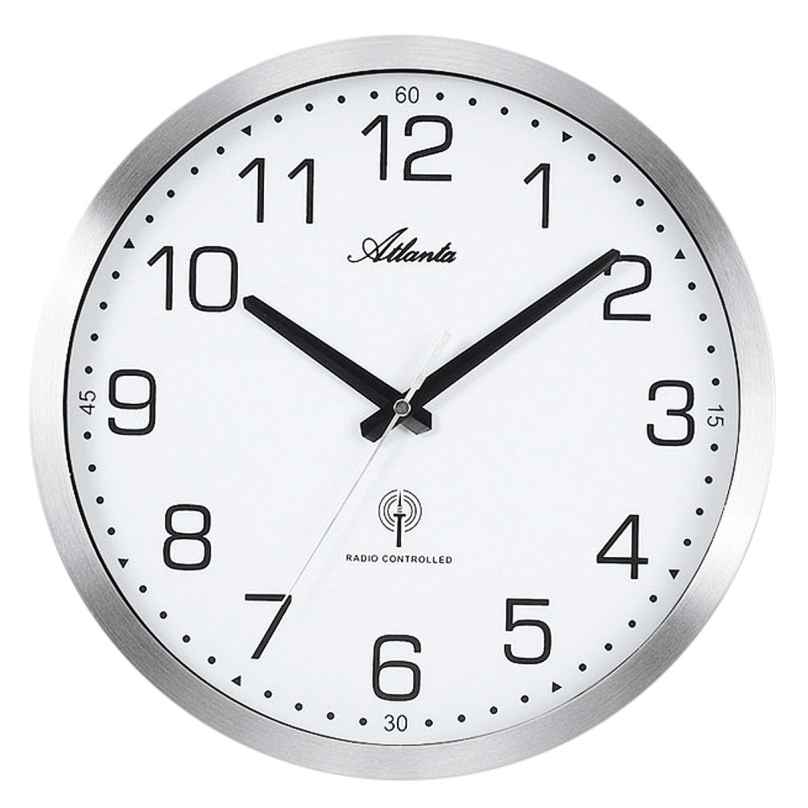 Atlanta 4371/0 Radio-Controlled Wall Clock 4026934437107