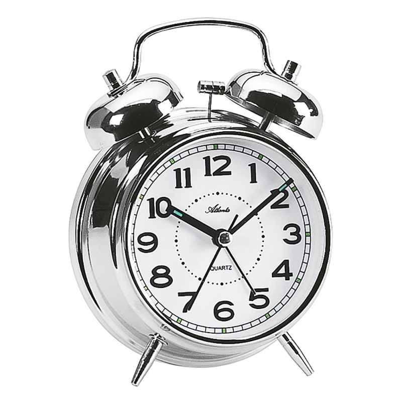 Atlanta 1646/19 Alarm Clock with Double Bell 4026934164614