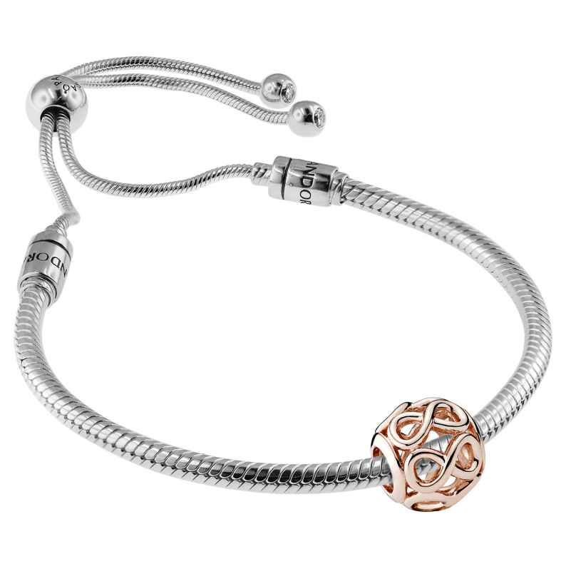 Pandora 08663 Bracelet Set Moments Sliding and Infinity Rose 4260497086635