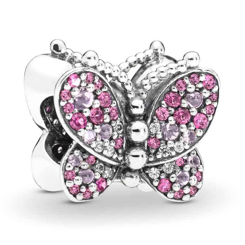 Pandora 797882NCCMX Silver Charm Dazzling Pink Butterfly 5700302766998