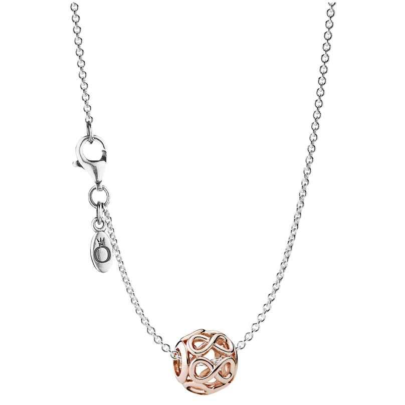 Pandora 08340 Silber-Halskette mit Anhänger Unendlichkeit Rosé 4260497083405