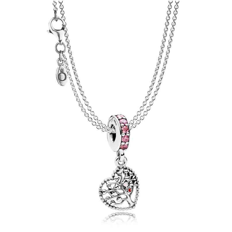 Pandora 08392 Halskette mit Charm-Anhänger Liebesbaum 4260497083924