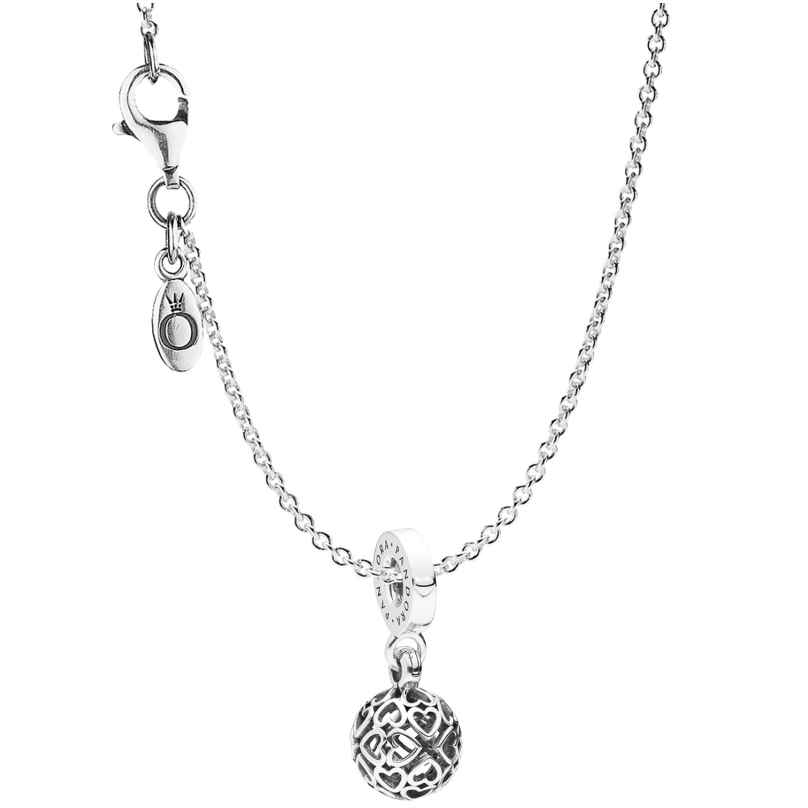 Pandora 08859 Halskette mit Anhänger Harmonious Hearts 4260497088592