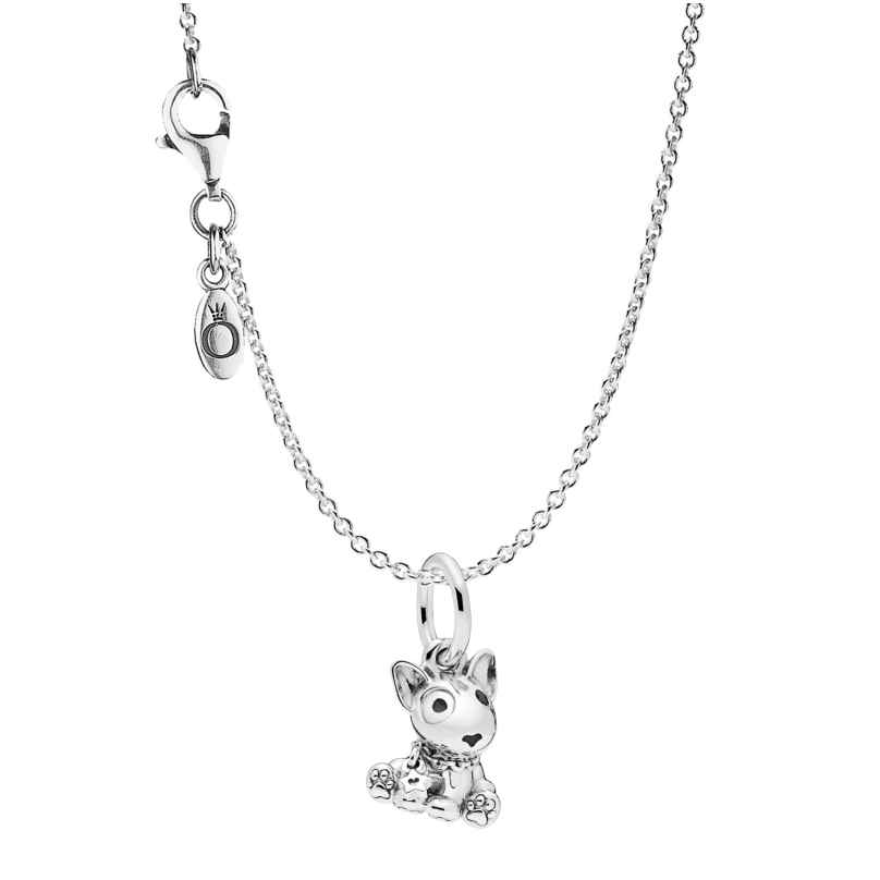 Pandora 75254 Necklace with Charm Bull Terrier Puppy Silver 925 4260641752546