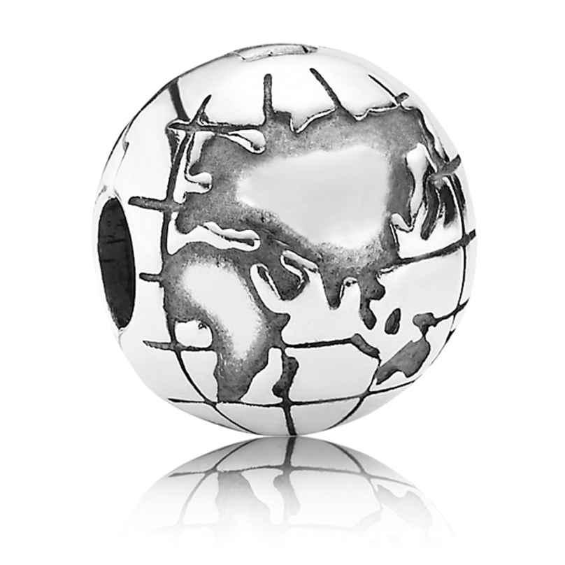 Pandora 791182 Silver Clip Stopper Globe 5700302197488