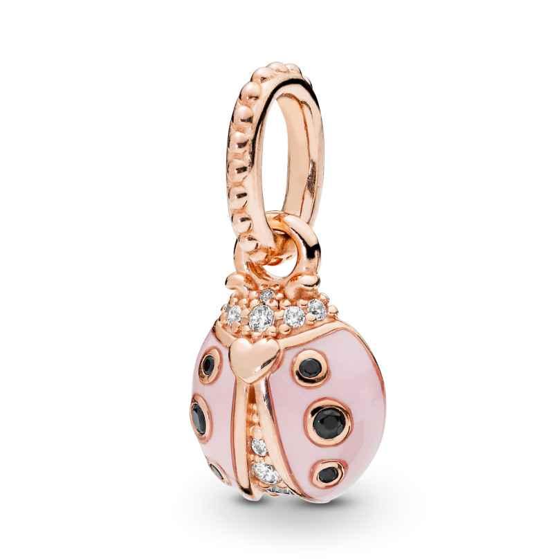 Pandora 387909EN160 Rose Anhänger Lucky Pink Ladybird 5700302766226