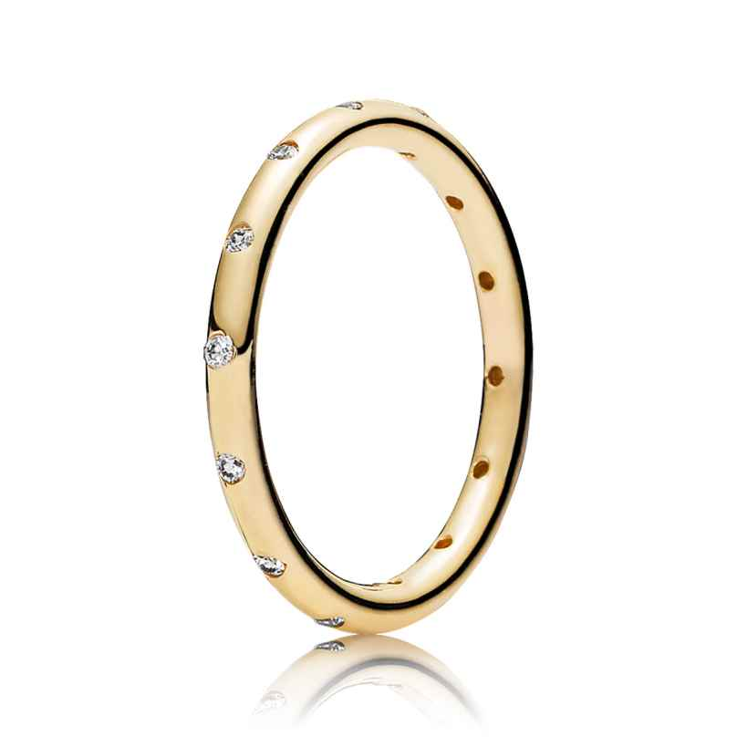 Pandora 150178CZ Damen-Goldring Tröpfchen