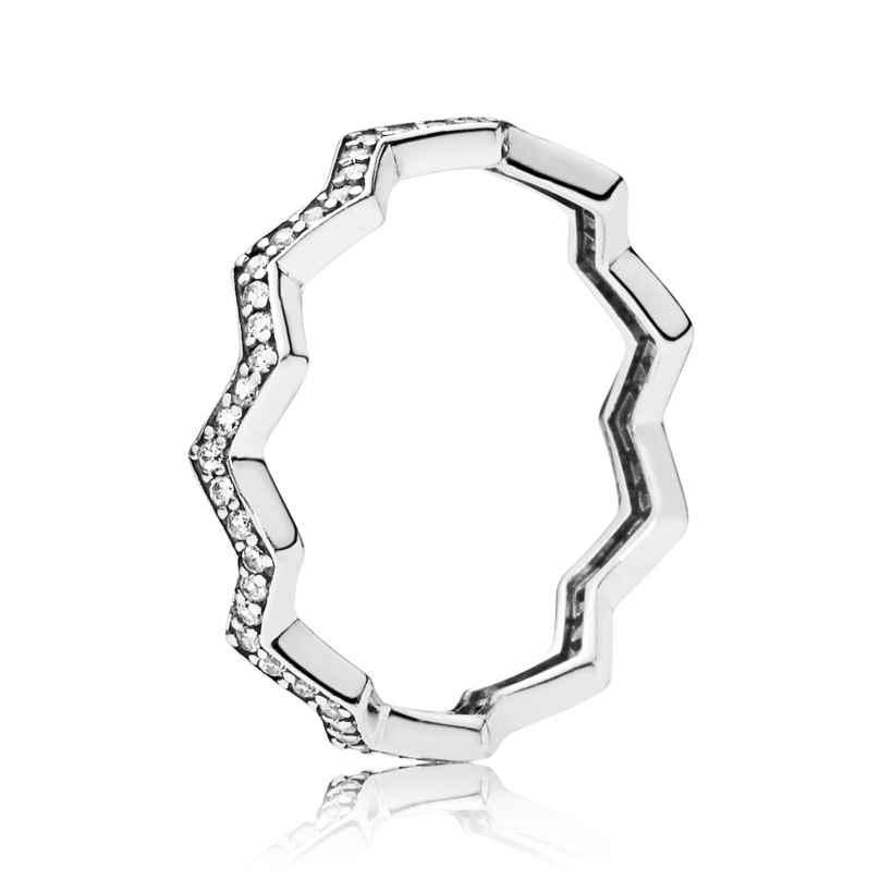 Pandora 197751CZ Damen-Ring Shimmering Zigzag