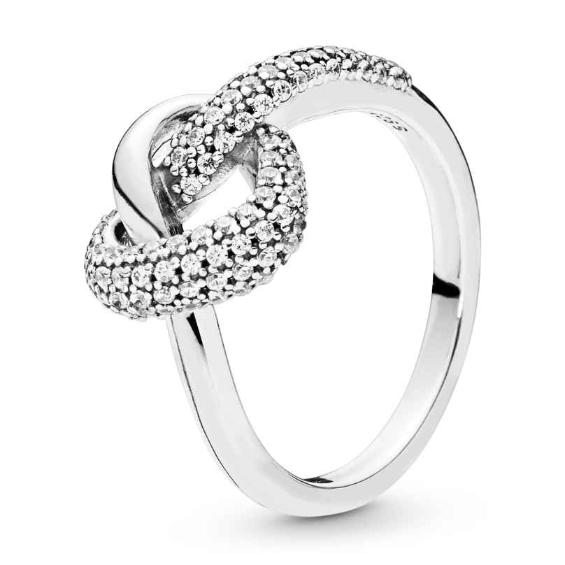 Pandora 198086CZ Ladies´ Ring Knotted Heart