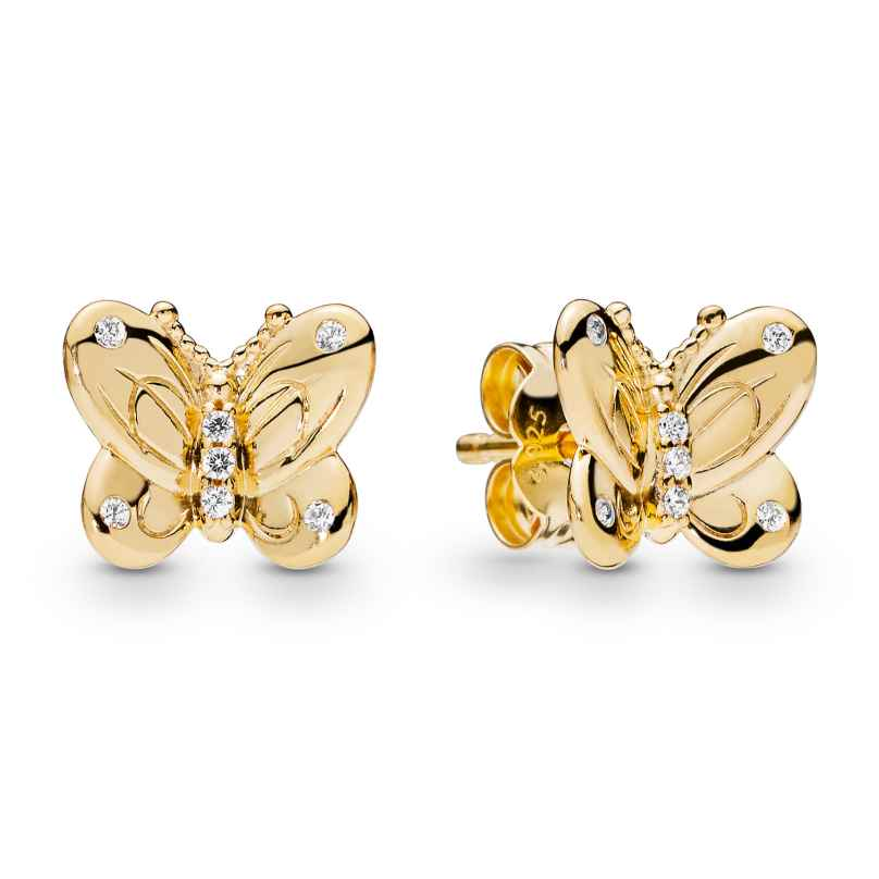Pandora 267921CZ Shine Damen-Ohrringe Decorative Butterflies 5700302766080