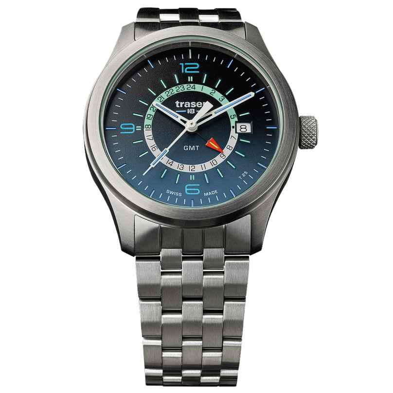 traser H3 107036 Herrenuhr P59 Aurora GMT Blue Stahlband 7630027703399