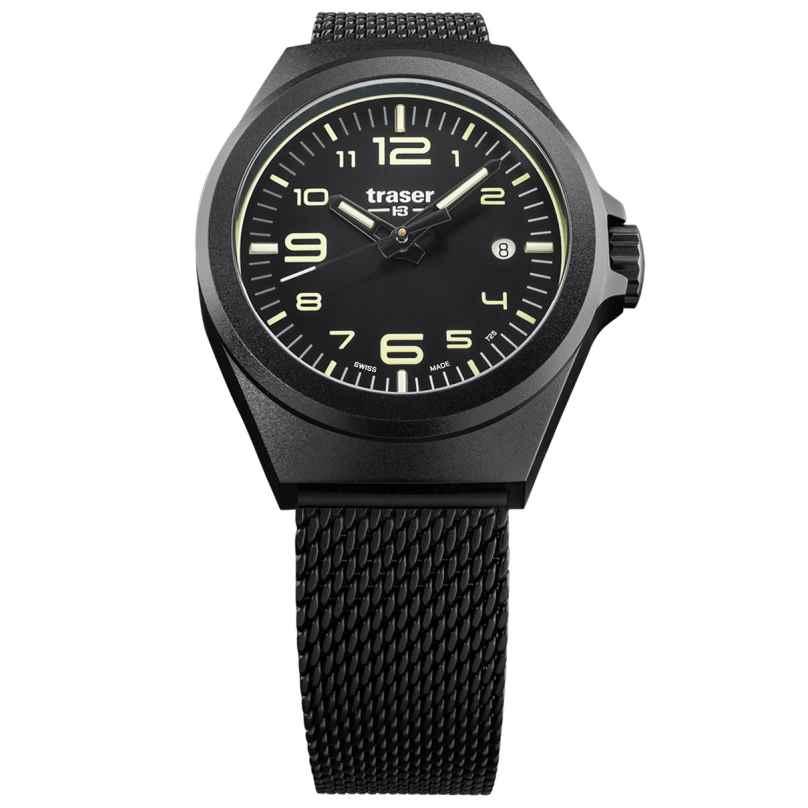 traser H3 108204 Wristwatch in Unisex Size P59 Essential S Black 7630027703894
