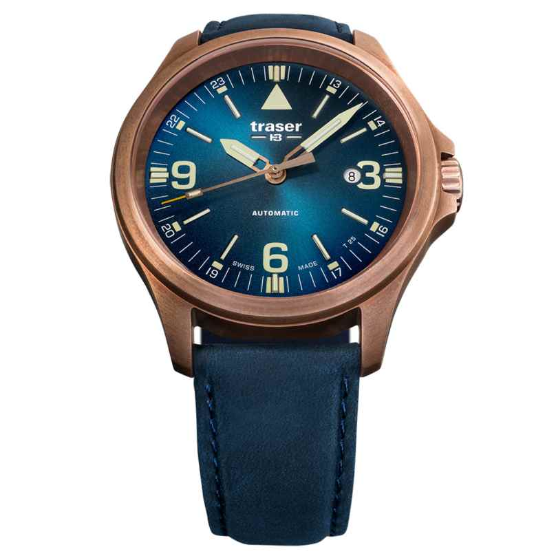 traser H3 108074 Men´s Automatic Watch P67 Officer Pro Blue 7630027703795