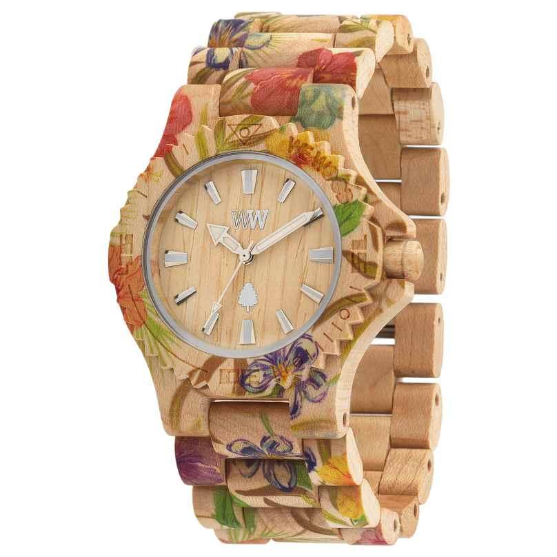 WeWood WW01013 Date Flower Beige Ladies Wood Watch 0610373988852