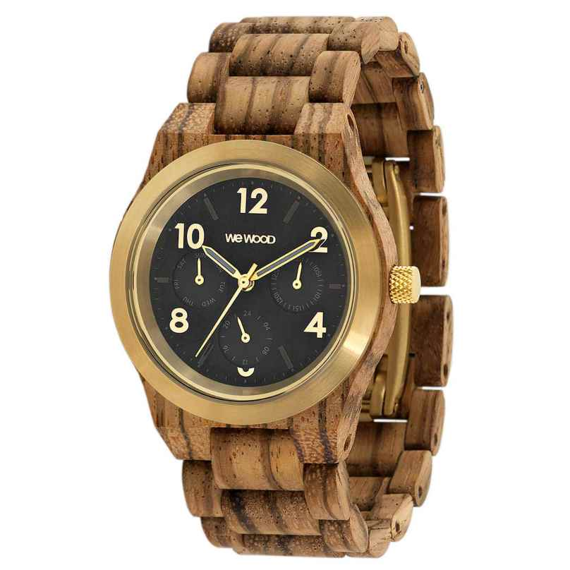 WeWood WW49003 Damenuhr Multifunktion Kyra MB Zebrano Gold 0725350507787