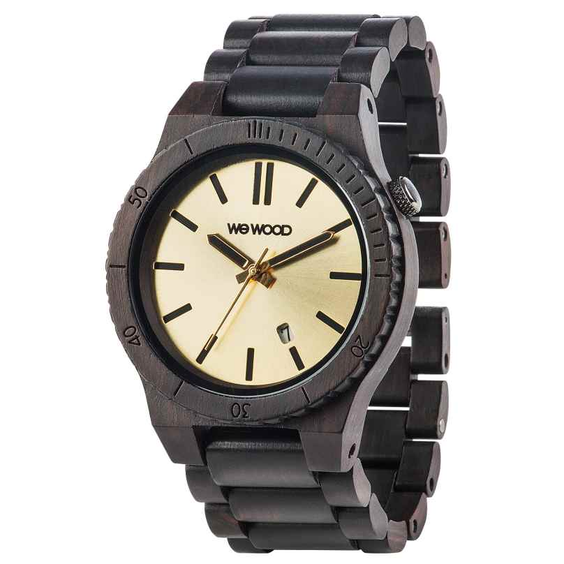 WeWood WW31003 Arrow Black Gold Herren-Holzuhr 0610373989040