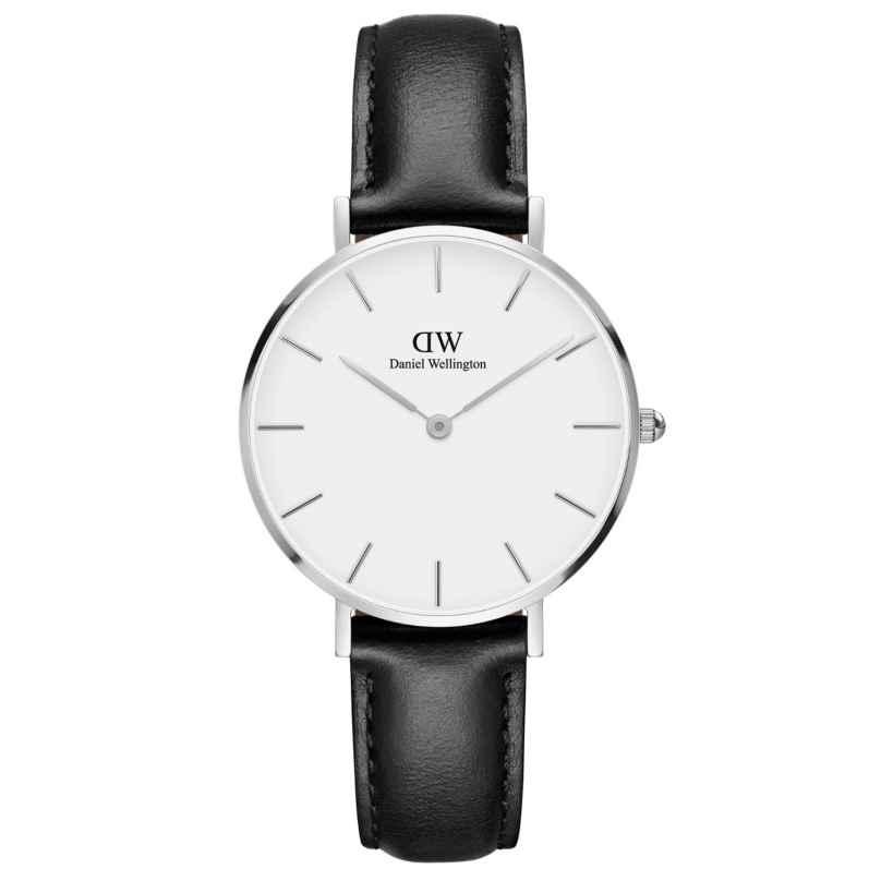 Daniel Wellington DW00100186 Damenuhr Classic Petite Sheffield Weiß/Silber 32 mm 7350068245459