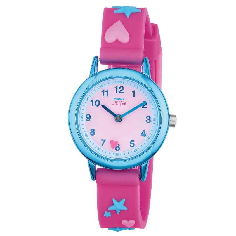 Prinzessin Lillifee 2013219 Mädchenuhr mit Sternen und Herzen 4056867002219