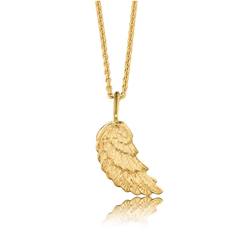 Herzengel HEN-WING-G9K Kinder-Halskette Flügel Gold 4260463191578