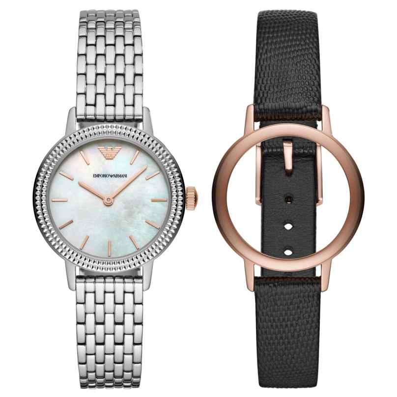 Emporio Armani AR80020 Uhrenset für Damen 4013496069761
