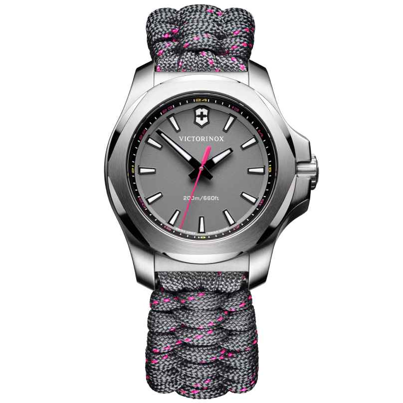 Victorinox 241771 I.N.O.X. V Ladies Watch Grey with Paracord Strap 7630000727664