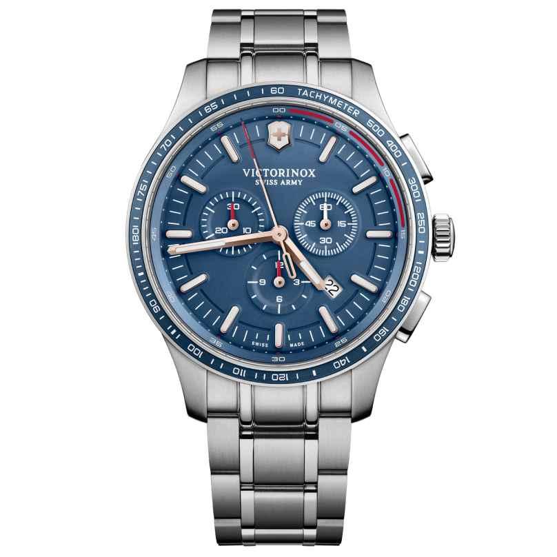 Victorinox 241817 Herrenuhr Alliance Sport Chronograph Blau 7630000733313