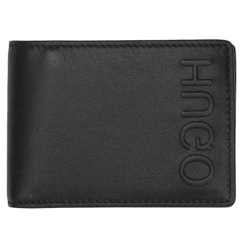 Hugo 50397402 Leder-Geldbeutel für Herren Bolster Schwarz 4029048025635