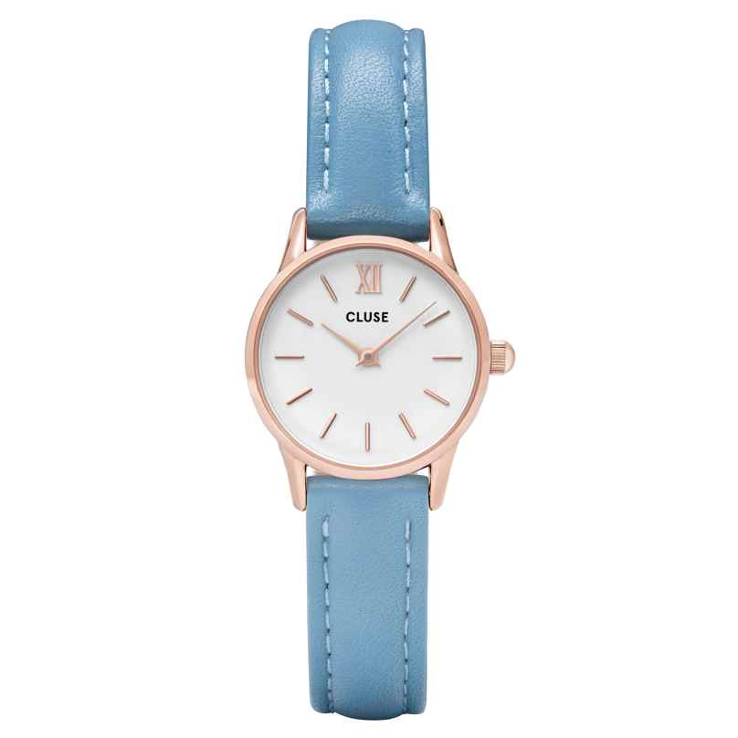 Cluse CL50026 Damenuhr La Vedette Rose Gold White/Retro Blue 8718924597408