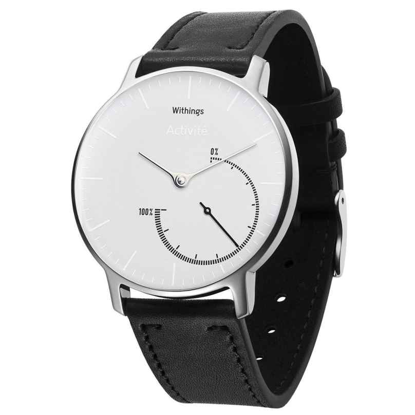 Withings HWA01 Activité Steel White Inflight with aditional Silicone Strap 3700546701795