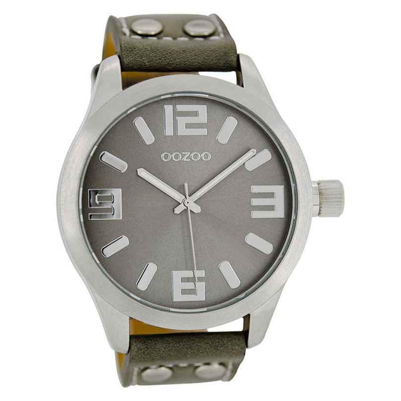 Oozoo C1057 Armbanduhr XL Grau 46 mm 9879012492032