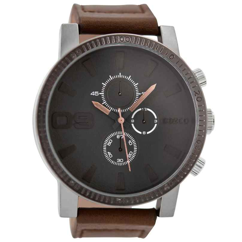 Oozoo C9032 Herrenuhr im Chrono-Look Braun/Grau 50 mm 9879012517377