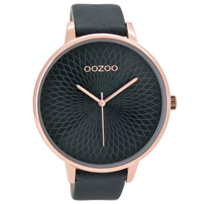 Oozoo C9524 Damenuhr Blaugrün XXL 48 mm 8719929001198