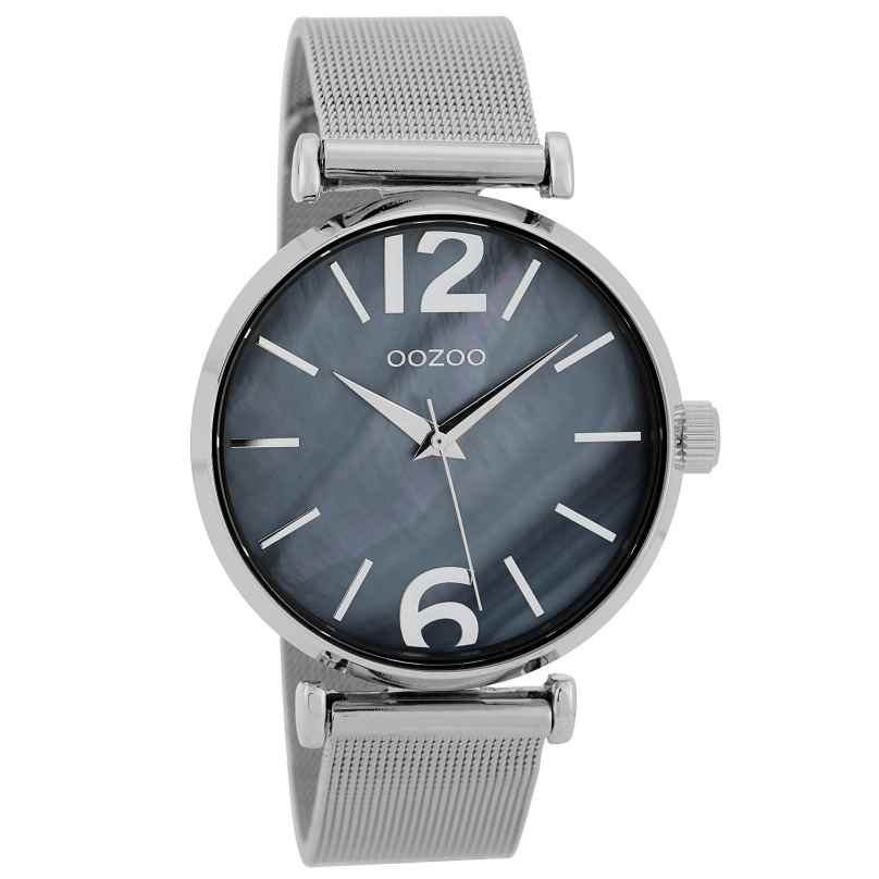 Oozoo C9567 Damen-Armbanduhr mit Milanaiseband Grau/Blaugrau 40 mm 8719929002119