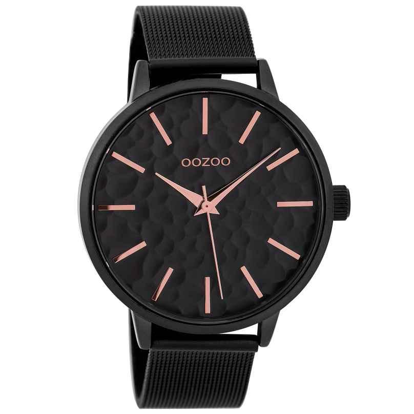 Oozoo C9574 Damenuhr mit Milanaiseband Schwarz 42 mm 8719929002188