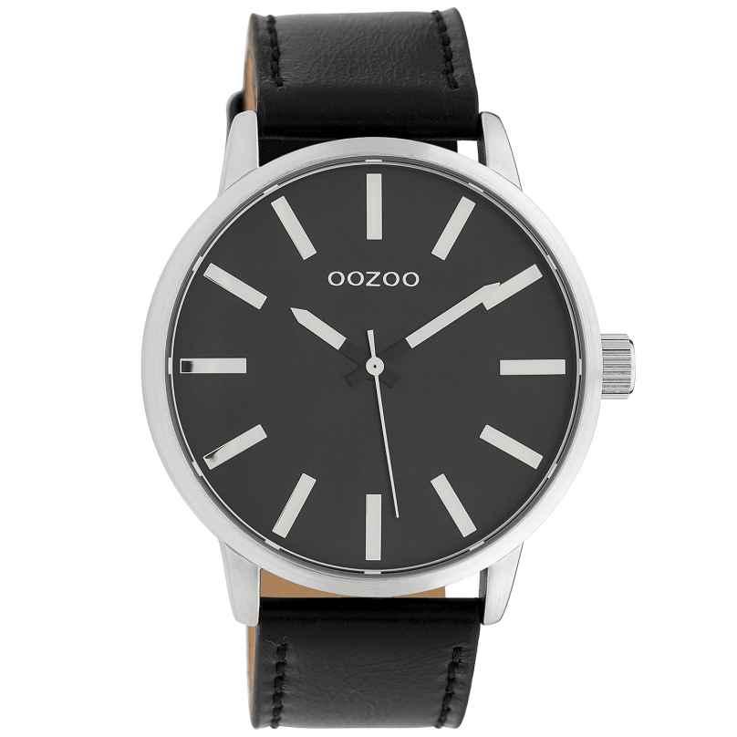 Oozoo C10034 Armbanduhr Schwarz 45 mm 8719929010558